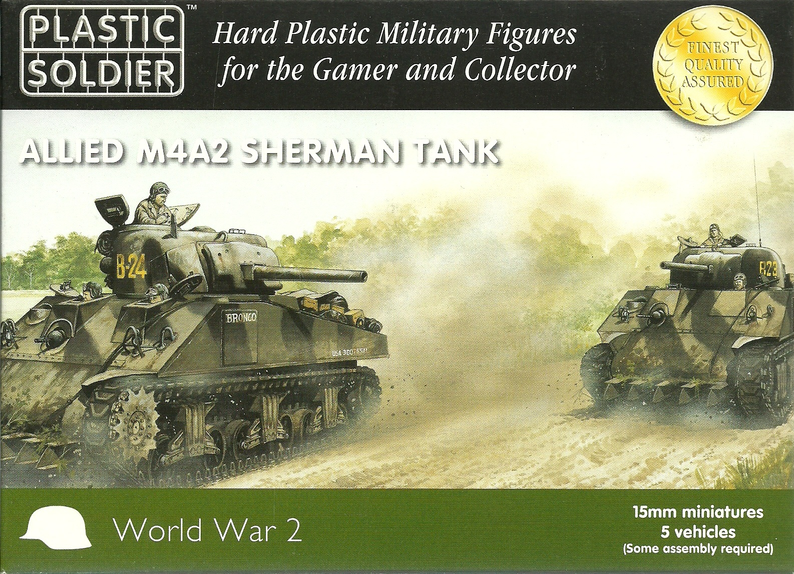 M4A2 Sherman 75mm, 76mm or 105mm (5 Fast Assembly